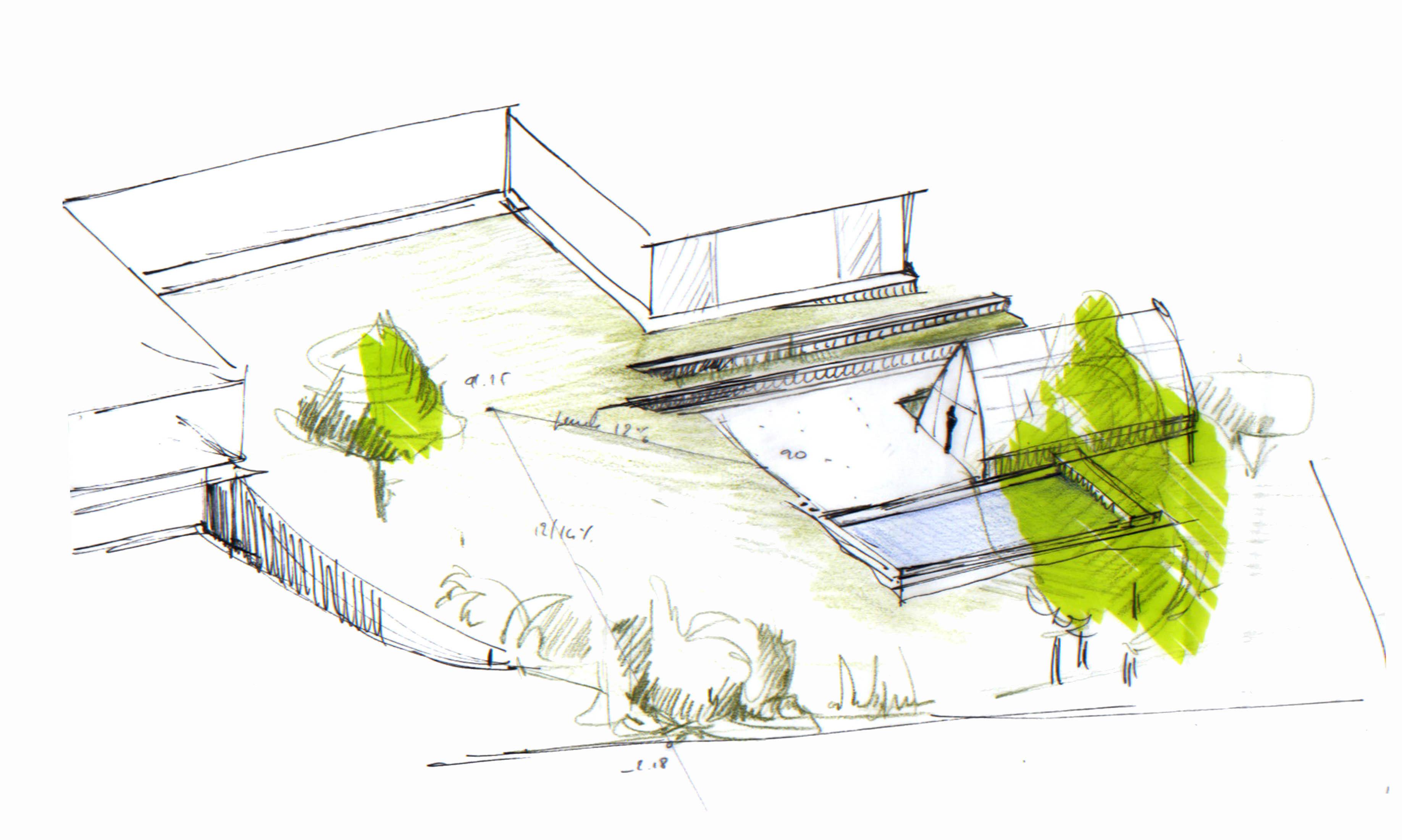 croquis etude architecte paysagiste atelier papyrus11 atelier papyrus. Black Bedroom Furniture Sets. Home Design Ideas