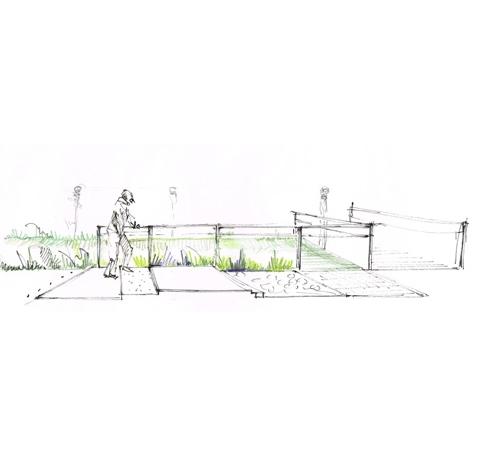 Aménagement d'un jardin d'EHPAD