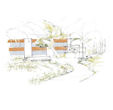 Réaménagement des espaces verts du Novotel de Lyon Bron