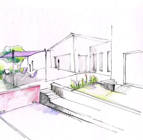 Création d'une piscine en béton brut  – Villette de Vienne (38)