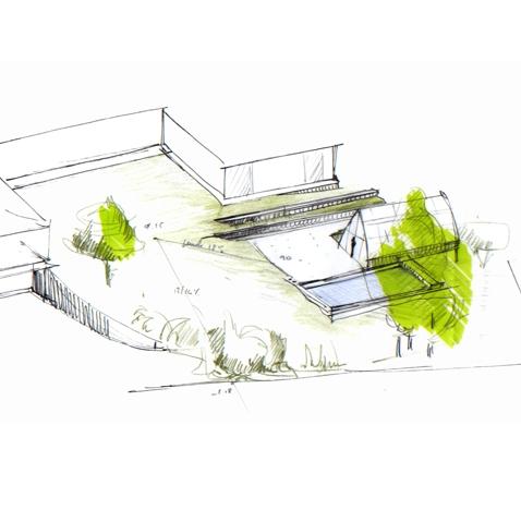 Création d'un jardin paysager – Charbonnière les Bains (69)