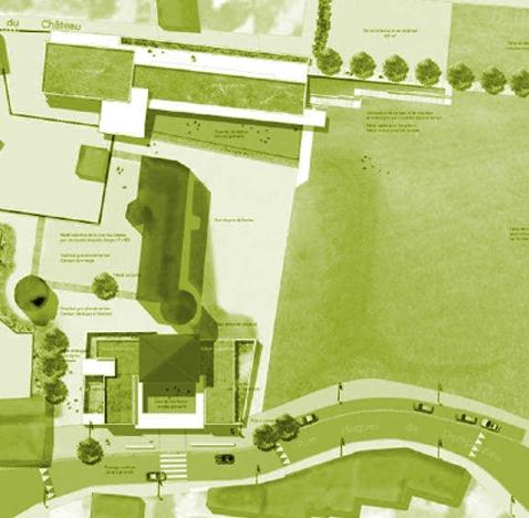Aménagement des abords du château monument historique à Demptézieu