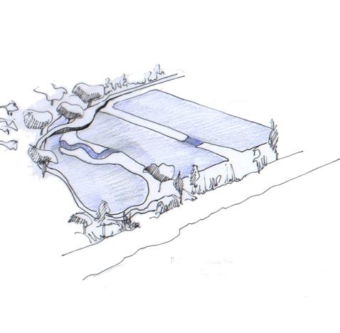 Création des abords d'une station d'épuration en « zone libellule »
