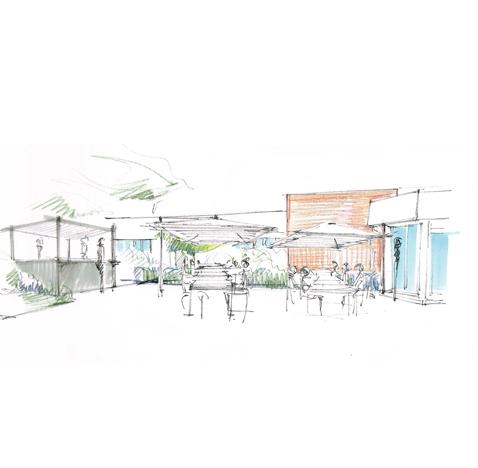 Aménagements des espaces extérieurs du Novotel Toulouse aéroport