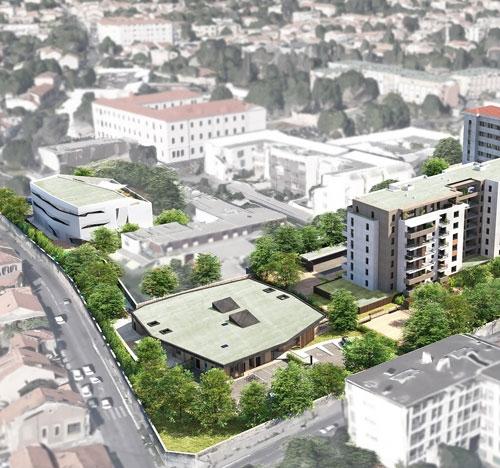 Conception et réalisation de 108 logements, d'une crèche et d'un batiment IFSI.