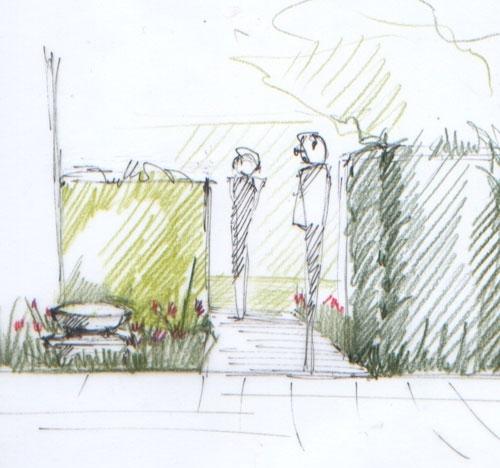jardin de ville autour d 39 une orangerie atelier papyrus. Black Bedroom Furniture Sets. Home Design Ideas