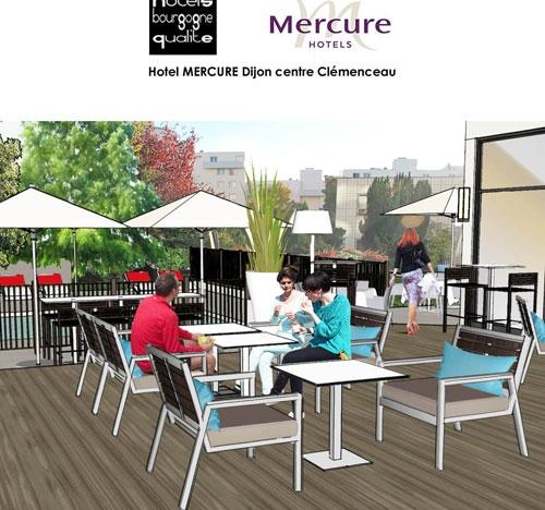 Réaménagement des terrasses du Mercure de Dijon centre Clemenceau