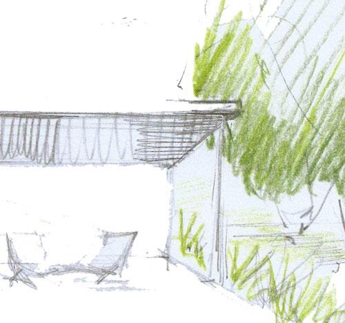 Jardin de ville avec spa